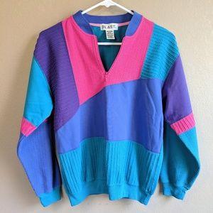 **2/$30* Vintage Colorblock Pullover Sweatship Zip